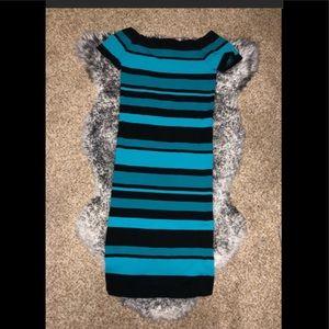 BRBE BODYCON  BLUE & BLACK DRESS
